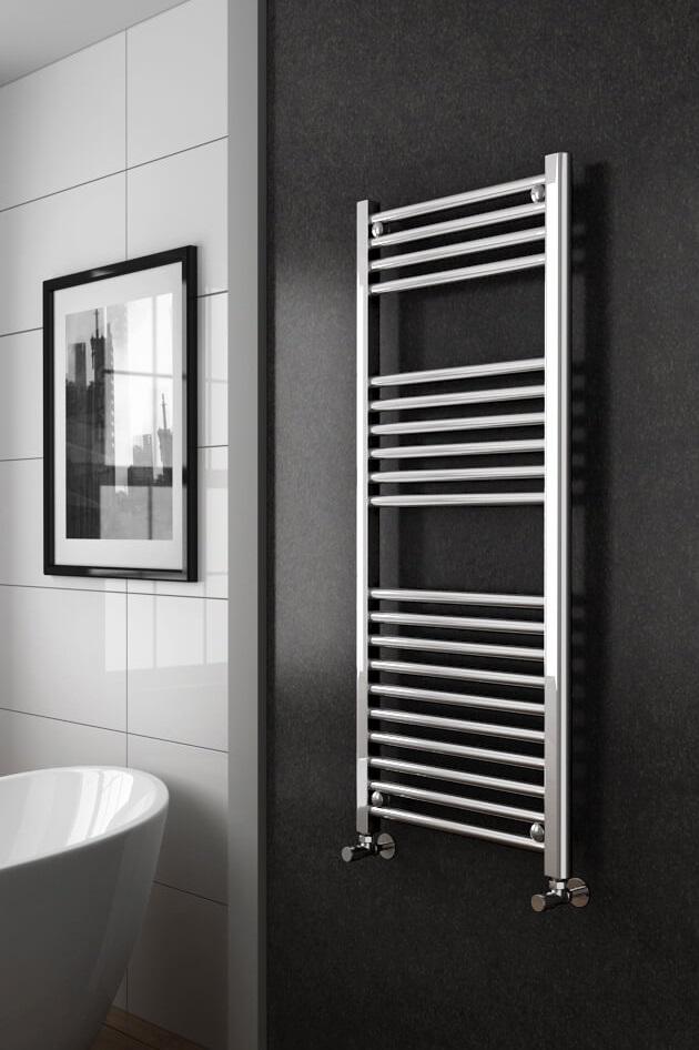 Diamond-Heated-Towel-Rail---W500-x-H1200mm-Chrome-Straight-d1-Resize - Copy - Copy